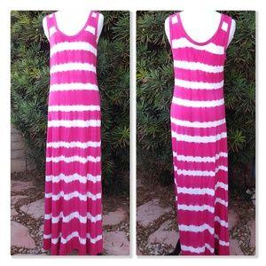 Calvin Klein Tie Dye Soft Maxi Dress/Cover Up